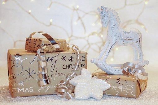 Noël, Cadeaux, Emballé, Surprise