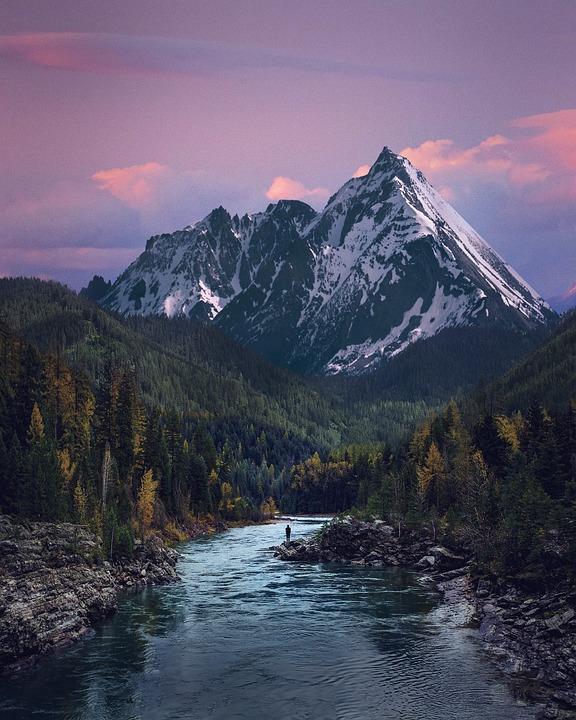 Valle, Río, Montaña, Paisaje, Naturaleza, El Agua