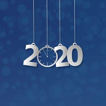 Φόντο, 2020, Χριστούγεννα, Bokeh, Μπλε