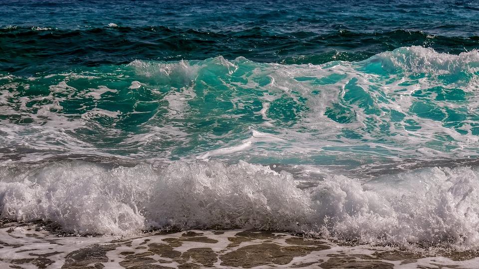波, サーフ, 海, 水, 自然, スプレー, スプラッシュ, 泡, 運動, 青, ターコイズ, 海景
