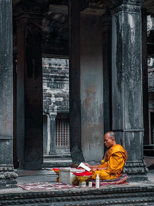 Mönch, Tempel, Meditation, Buddha, Buddhismus, Religion