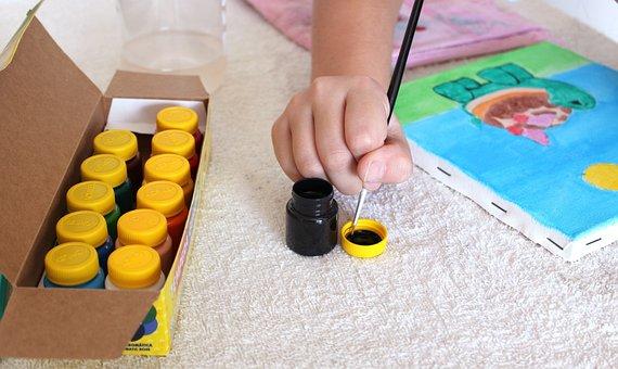 Painting, Ink, Gouache, Child, Art