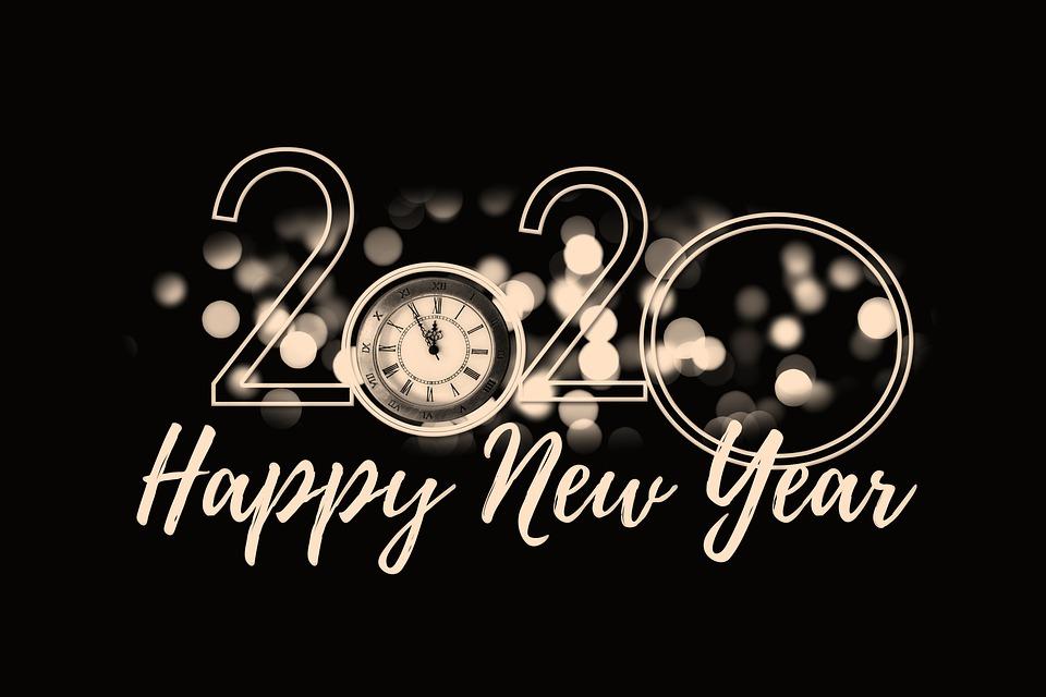 新年の日, 大晦日, クロック, 年, 2020