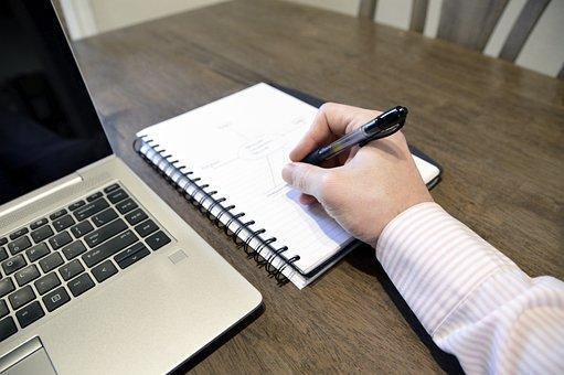 Notas, Computador, Notebook, Trabalho