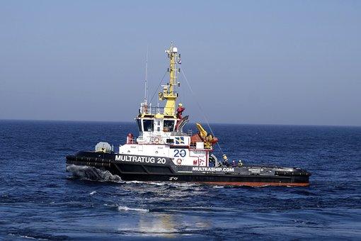 出荷, 綱引き, 船, 海の, 北の海, Towage, 海