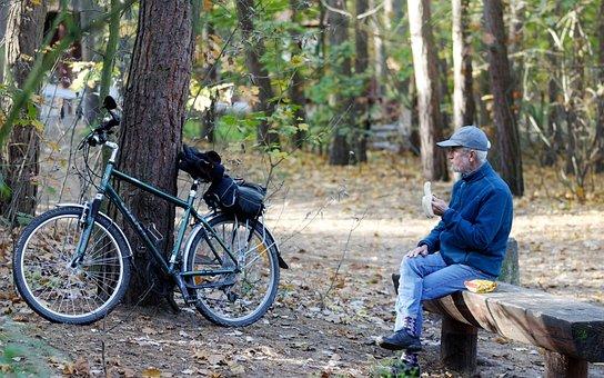 Man, Person, Old, Cap, Jeans, Bike