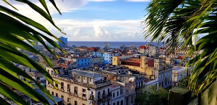 Гавана, Куба, Путешествия, Крыши, Пейзаж