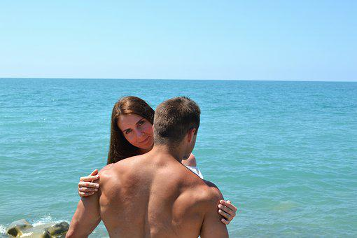 Love, Couple, Romantic, Beach, Sea, Kiss