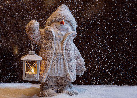 Schneemann, Laterne, Weihnachten