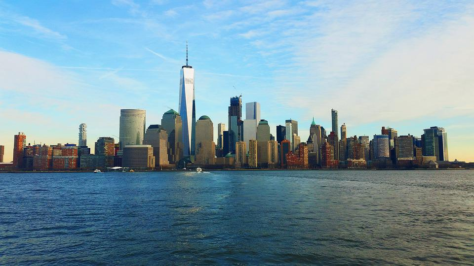 New York, New Jersey, City, Urban, America, Water