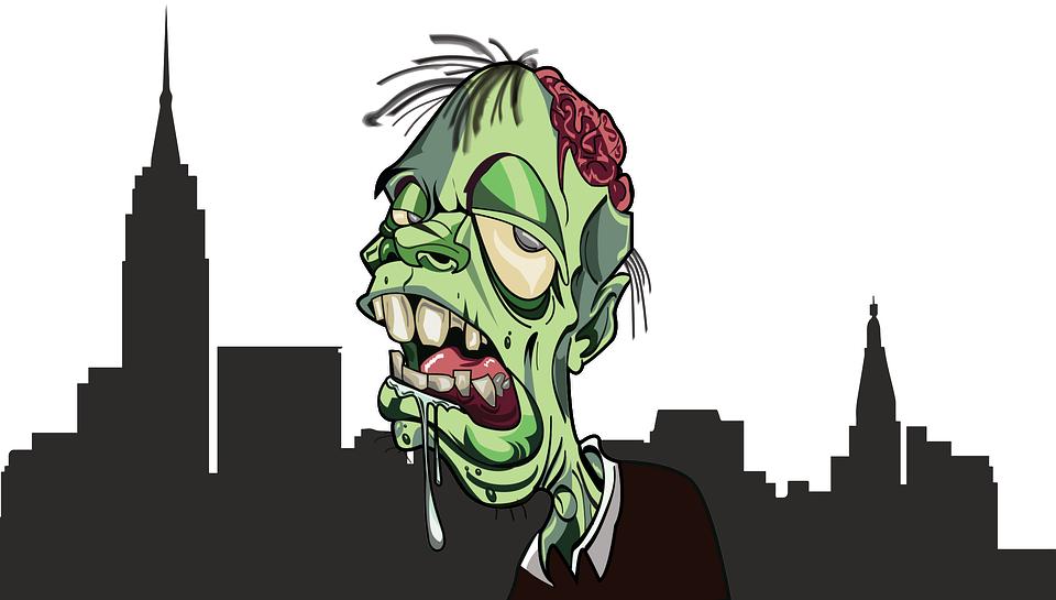 Zombie, City, Apokalipsa, Horror, Zombies