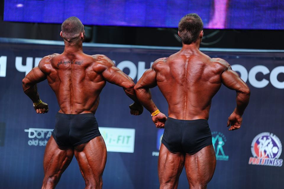 ボディビル, フィットネス, スポーツ, 運動選手, 実施, 人, 上腕二頭筋, 本体, 筋肉, 若い, 電源
