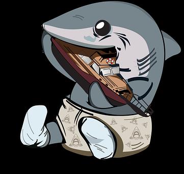 Jaws, Shark, Baby Shark, Orca, Boat