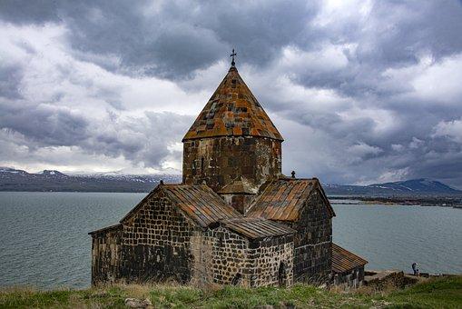 Sevan, Armenia, Lake, Mountains