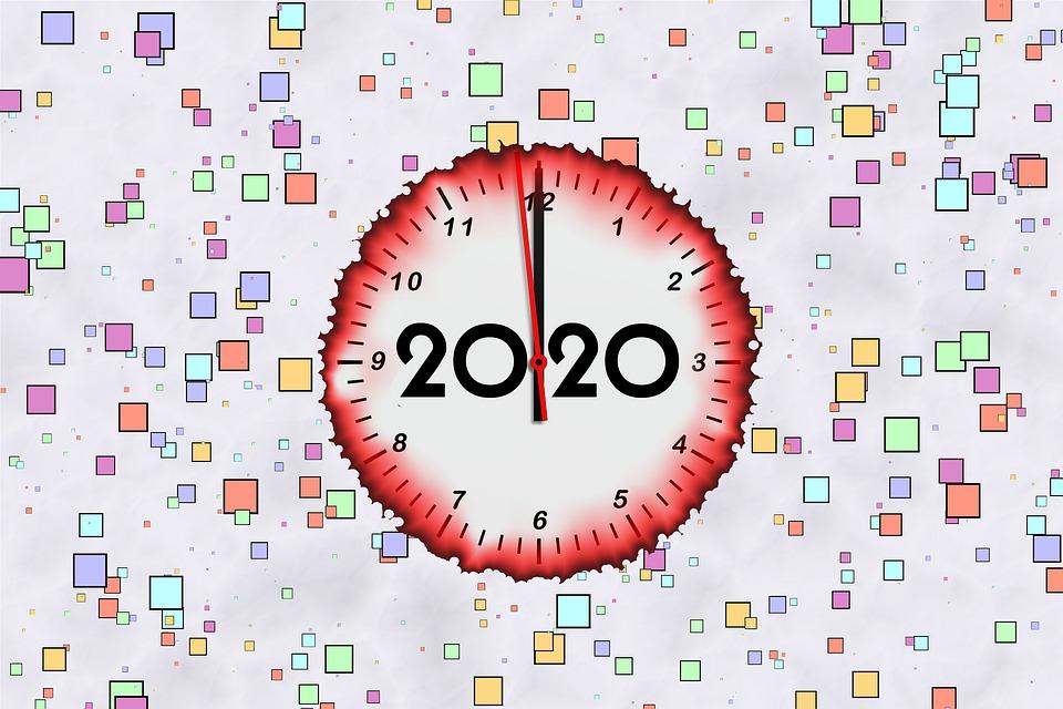 New Year, Change Of Year, Celebrate, Clock, Midnight