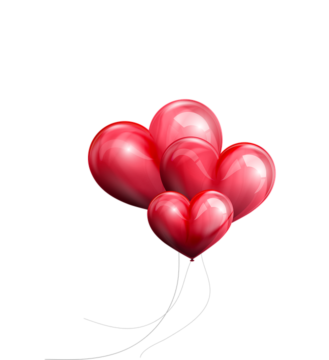Valentine Balloons Colorful Red Free image on Pixabay
