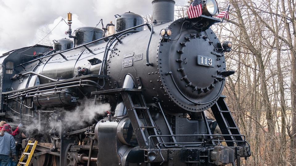 黒鉄, 鉄道, 蒸気機関車, ブラック, 交通, 機関車, ビンテージ, 旅行, 古い, ノスタルジア, 蒸気