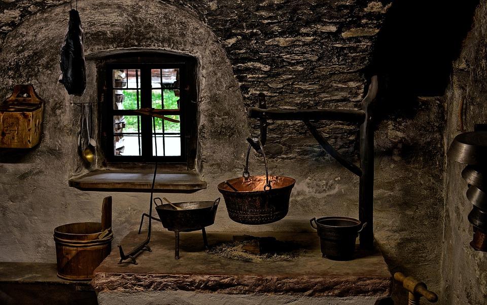 Cucina, Vecchio, Storia, Museo All'Aperto, Cottura