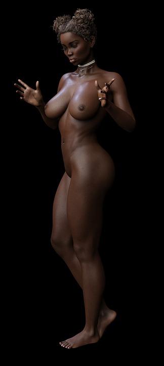 sexy nackte und schwarze modelle