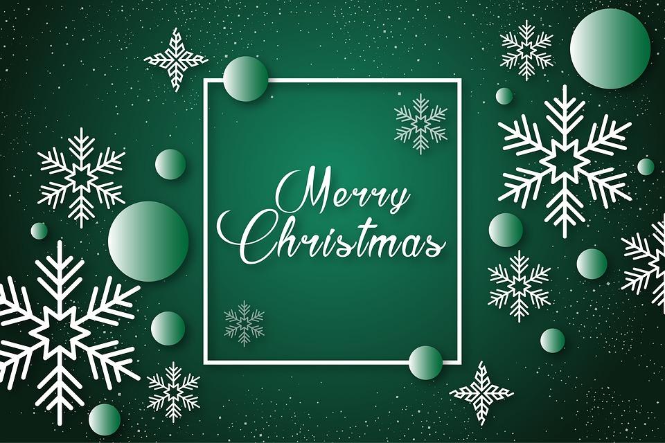 Noël, Célébration De Noël, Cadeau, Joyeux, Vert