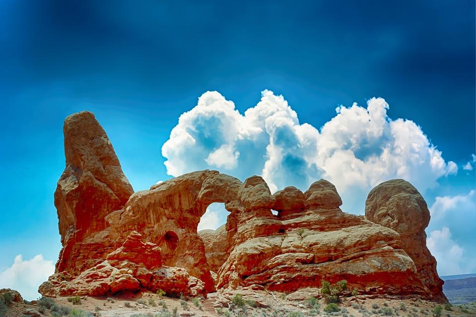 岩, 空, 雲, 風景, 山, 屋外, 気分, 風光明媚な