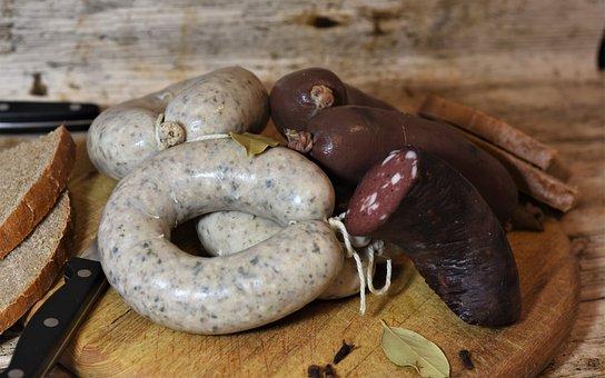 Salchicha De Hígado, Morcilla, Salchicha