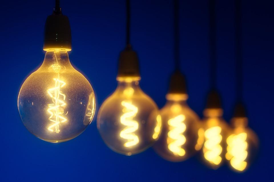 梨, 光, 能源, 灯泡, 当前, 照明, 电气, 灯, 模糊, 宏, 辉光, 发光, 照亮, 灵感, 心情