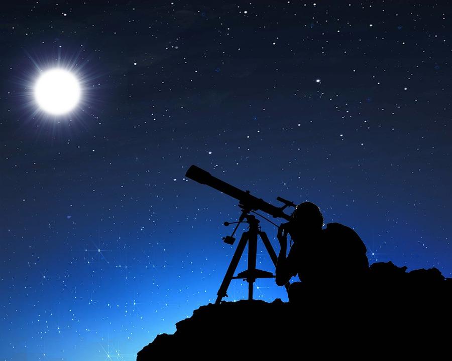 Moon Телескоп Нощ - Безплатно изображение в Pixabay