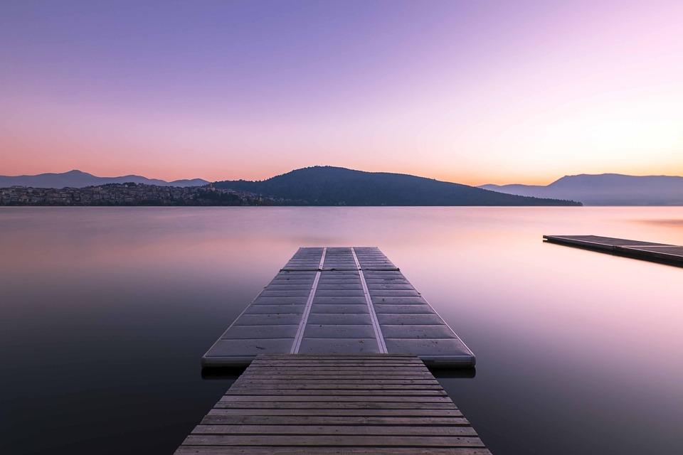 桟橋, 気分, 湖, 水, 雰囲気, 空, 自然, 風景
