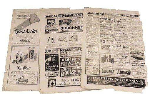 Industrie, Ambachtelijke, Druk, Krant