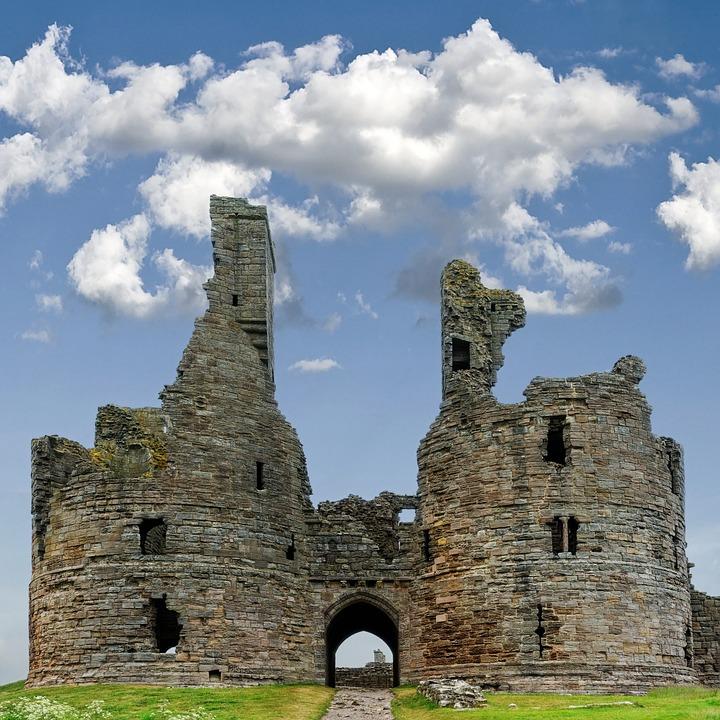 Castle, Gatehouse, Dunstanburgh, Ruins, Northumberland