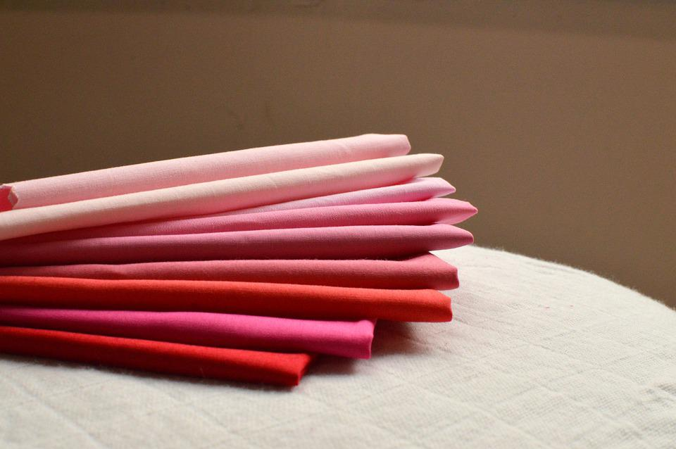 綿, 布ピンク, 赤い布, 布