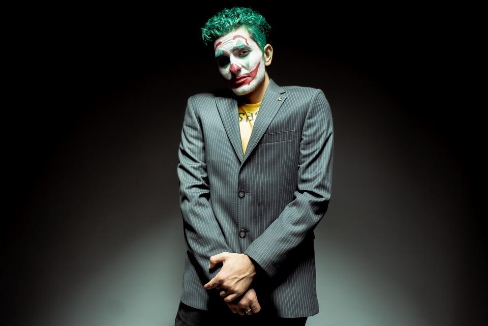 Joker, Makijaż, Winny, Smutny, Ręka, Narzędzie Suit