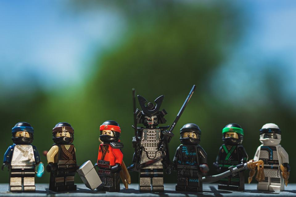Lego, Ninjago, Ascolta, Figura, Colorato, Legomaennchen