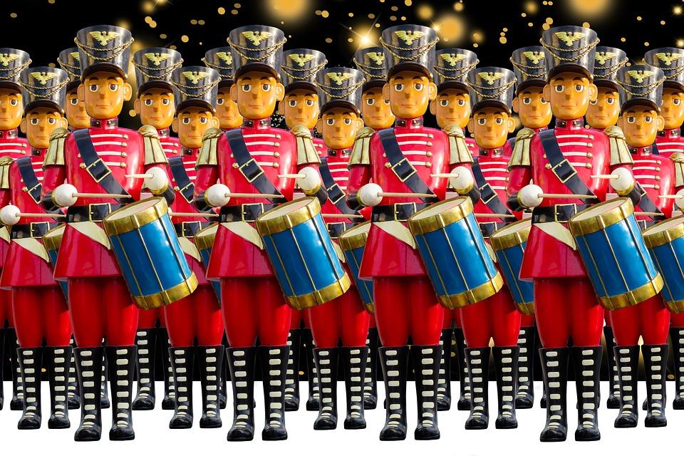 工芸品, 数字, 装飾, クリスマス, ドラム, 兵士, 音楽, 行進, エルツ山地, 伝統, キャップ