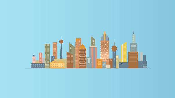 市, 建物, スカイライン, アーキテクチャ, 高層ビル, 都市の景観, 都市