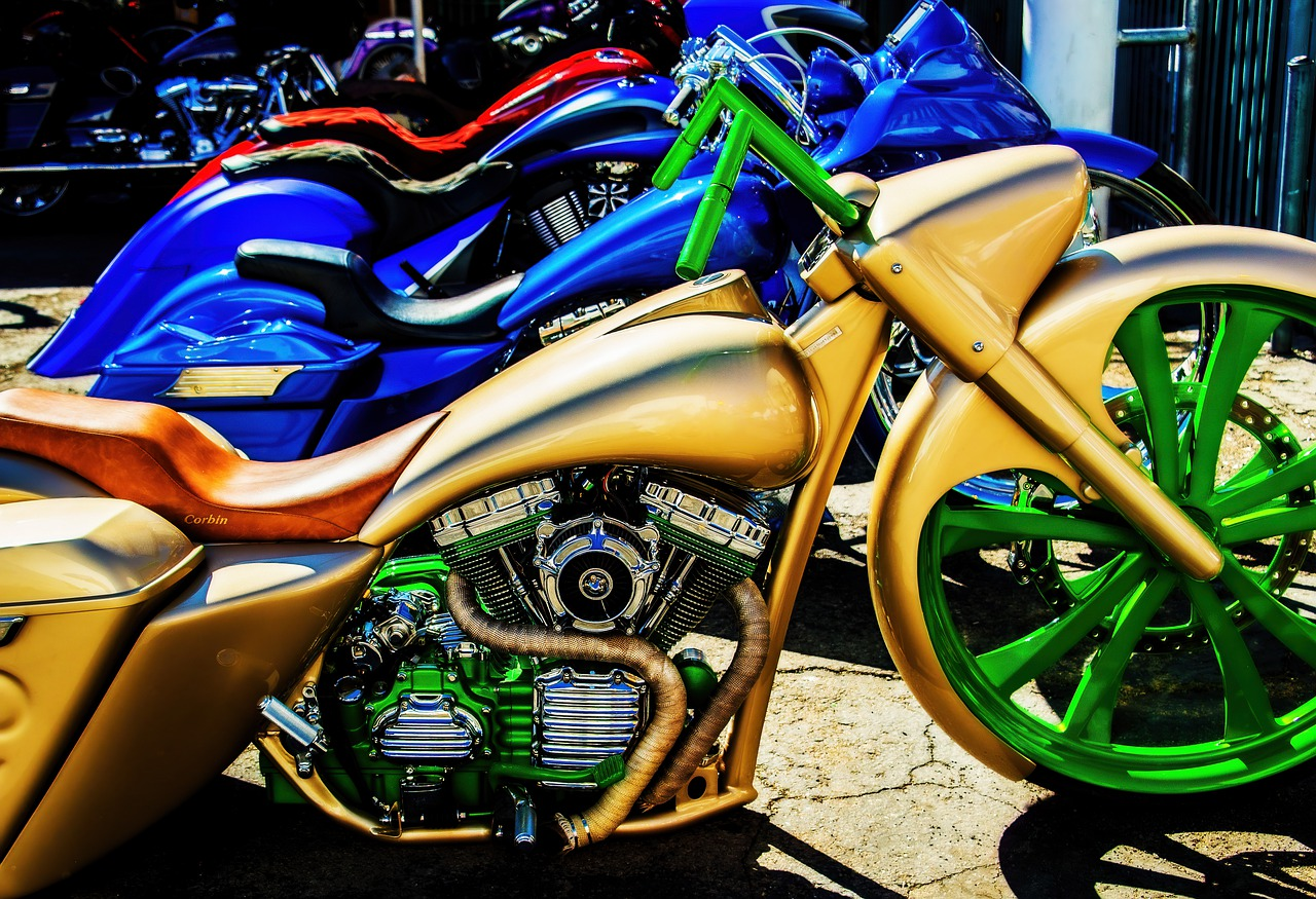 Motorcycle Custom Colorful - Free photo on Pixabay