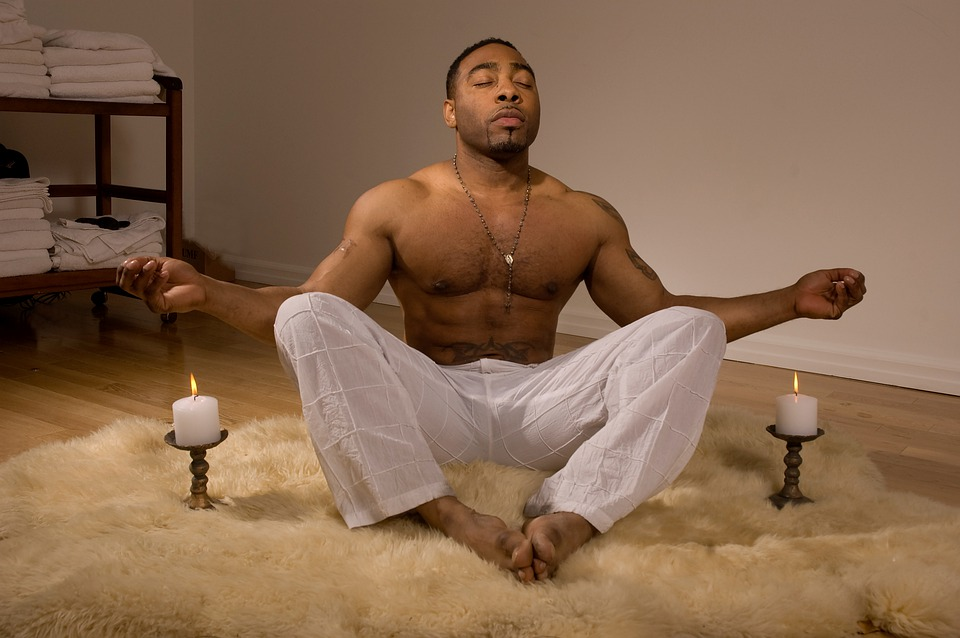 Hombres, Spa, Relajarse, Ajuste, Afroamericano
