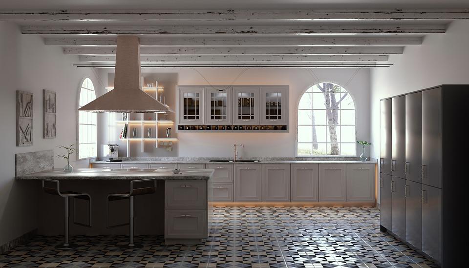 Архитектура, Кухня, Вътре, Почвата, Етаж, Дизайн
