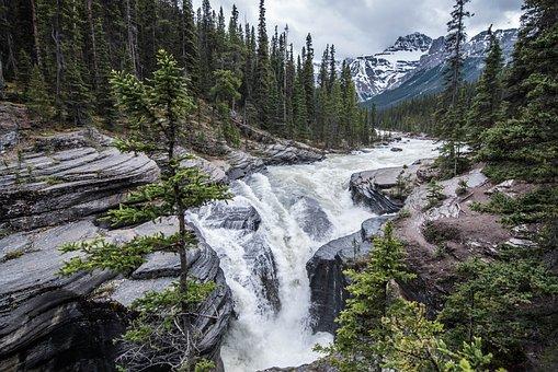 Waterfall, Canada, Landscape, Scenic