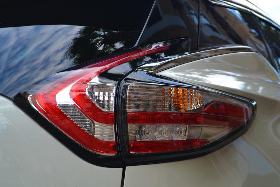 Nissan Murano, Taillight, Break-Light, Rear, Tinted