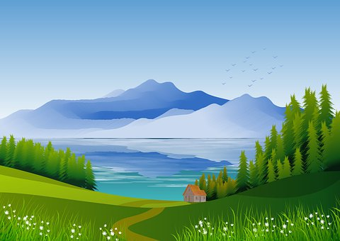 Illustration, Landscape, Nature