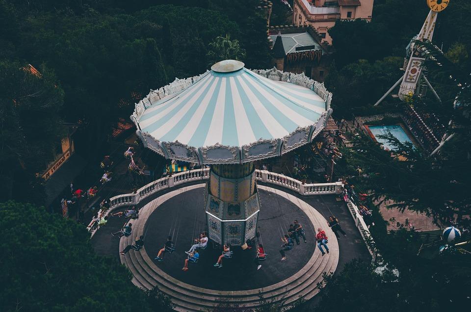 Cadena Aviador, Barcelona, Tibidabo, Parque Temático, España