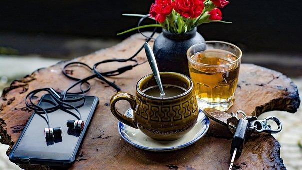 Herbata, Pić, Puchar, Gorący, Kawa