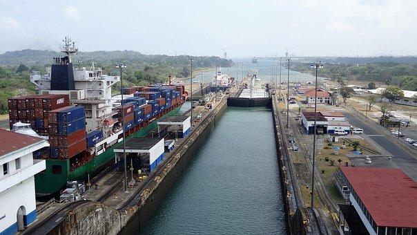 Panama Canal, Panama, Cruise, Ship