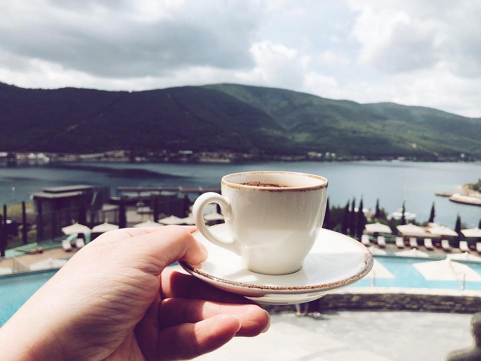 Coffe, Mountains, Sea, Turkey, Bodrum, Vacation, Beach