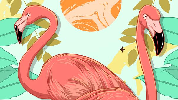 13++ Sketsa hewan flamingo terupdate