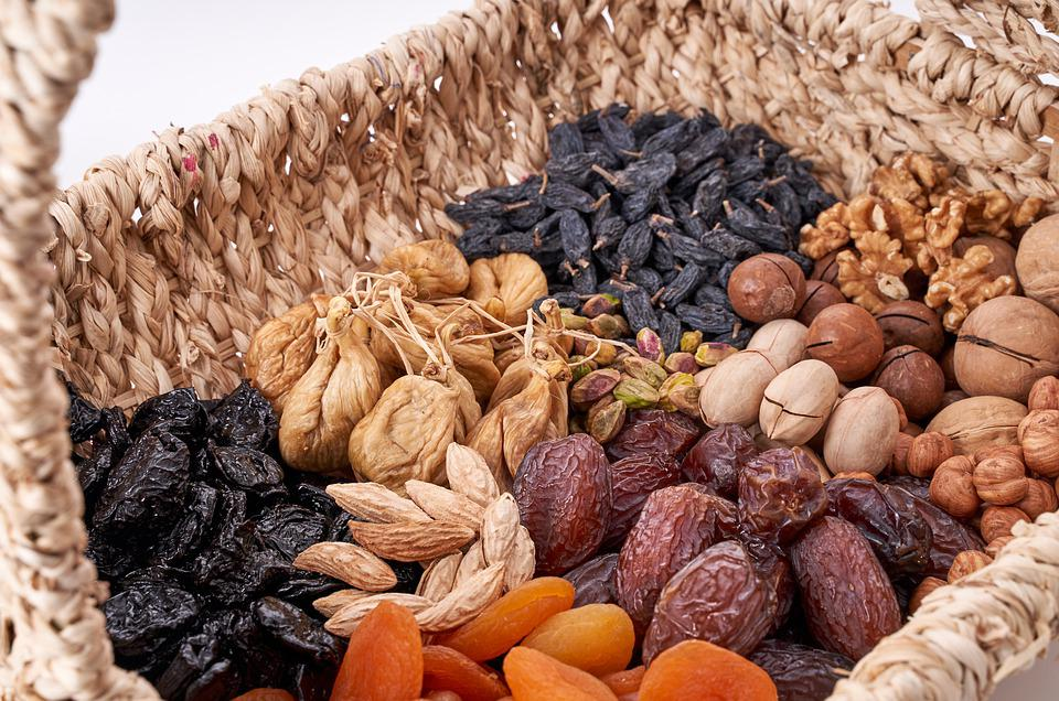 Nuts, Nuts Basket, Орехи, Сухофрукты, Пекан, Миндаль