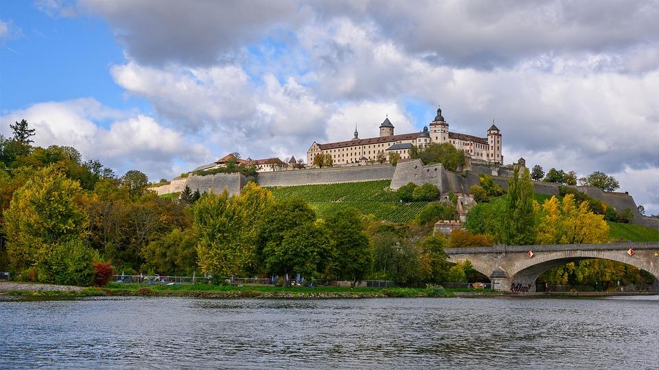 Slott, Fästning, Slott, Marienberg, Würzburg, Bayern