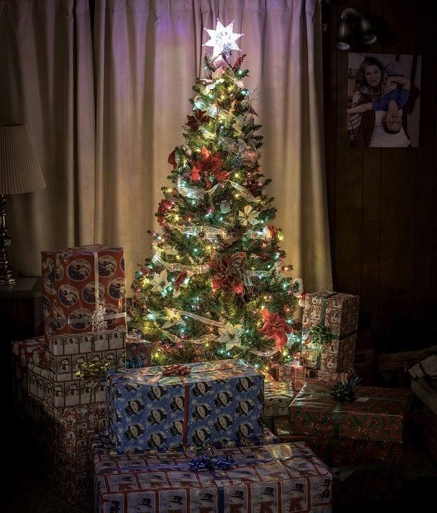 Navidad, Árbol, Presenta, Regalos, Días De Fiesta